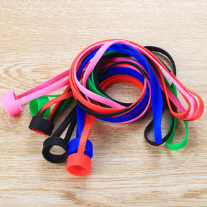 Wholesale Universal Silicone Lanyard Vape Band O Rings Silicon Necklace Colorful for fit mm mm E cigarette Kits RDA RBA Tank Atomizer Box Vape Mod