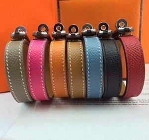 Wholesale H single circle cross lines palm lines leather bracelets round buttons bracelets star Bracelets