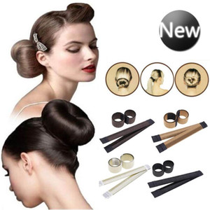 Wholesale Women s Magic Hair Bun Snap Styling Donut Former French Twist Band Maker Magic Tools Bun Maker DHL