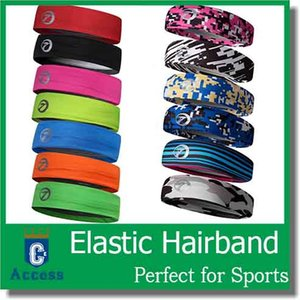 Wholesale sports squash resale online - 2017 Squash Topwise Brand Fashion Women Men Sports Headband Wide Elastic Hairband Unisex Stretchy Sweatbands Yoga Gym Hair Head color