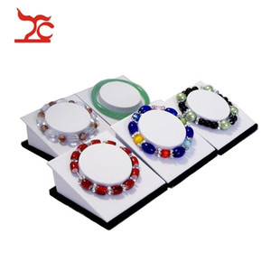 Direct Sale 5Pcs Jewelry Display Holder Black White Chain Tower Wooden Bangle Bracelet Anklet Storage Display Organizer Stand 8.2*8.2*4.5 cm