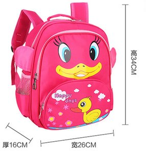 Wholesale Cute Animal Duck Design Backpack For Kids Boys Girls Cartoon Backpack Baby Preschool bag Toy Bag