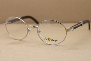 Wholesale Black Buffalo horn brand designer with logo optics Hot 7550178 Eyeglasses men Wholesale Glasses with box Frames Size:55-22-140 mm