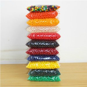 Wholesale Hot Seven Color water beads 300 Particles Per Bag aqua bead Growing Water Balls Decoration Paintball Gel Balls