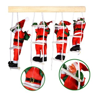 Wholesale 1Set Santa Claus Christmas Ladder Christmas Party Decorations Xmas Toy Tree Home Kids Gifts New Year Gift
