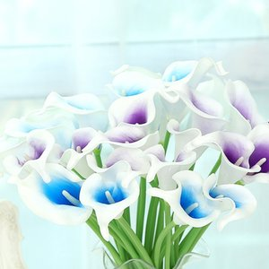 Wholesale Calla Lily Artificial Flowers Simulation Crafts Fake Flower For Wedding Party Decorations Many Colors Mini Style Real Touch br B RZ