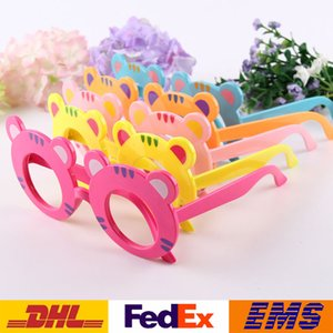 Wholesale Sunglasses Frames Children Glasses Frames Girls Boys Cartoon Tiger Without Lens Shape Glasses Frame Kids Accessories Xmas Gift WX G11