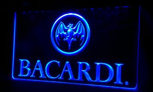 Wholesale LS306 b Bacardi Banner Flag Neon Light Sign
