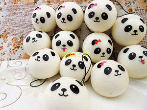 100pcs lot Free Shipping 4cm Jumbo Panda Squishy Charms Kawaii Buns Bread Cell Phone Key Bag Strap Pendant Squishes Bag Parts & Accessories