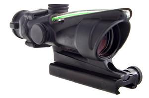Tactical 4x32 ACOG Style Optical Tactical Scope W  Green Fiber Crosshair reflective coating Weaver Riflescopes Combat Gunsight For Hunting