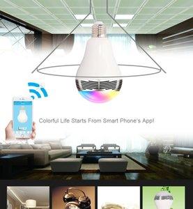 Wireless Bluetooth 4.0 E27 Smart LED Night Light bulb audio speaker led bulb rgb remote controlled by cellphone color changing