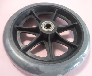 6 inch wheel for wheelchair front wheels for wheelchair High-quality TPR material Diameter 150mm Bearing hole 8mm CE on Sale