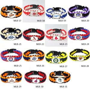 Wholesale Football Baseball Team Paracord Survival Camping Sports Bracelet promotional gift Champions Ring umbrella bracelet Outdoor