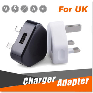 Wholesale UK Pin Mains Charger Plug V A UK USB Wall Charging Adapter Tablet PC Universal For iPhone XS Plus X Samsung Galaxy Note S9 Sony