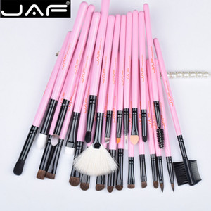 Best Birthday Present J32gr-P Jaf 32 Pcs Pink Makeup Brush Set Red Natural Goat Hair Makeup Brushes In Gift Box Packing Her