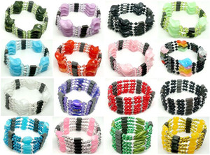 10pcs  Lot Beautiful mixed Woman Fashion Magnetic Genuine Hematite beads Strands for Bracelet & Necklace & Ankles Gift