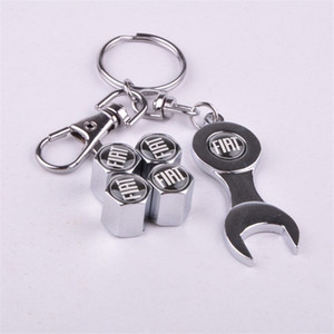 Car-styling Car-covers 4pcs Set Car Wheel Tires Valve Caps Tyre Stem Air Caps with Mini Wrench & Keychain case for FIAT