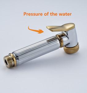 Chrome & Golden Hand-held Toilet Plating Spray Nozzle Sprinkler Shower Head Bidet