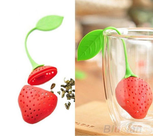 Cute Strawberry Tea Leaf Strainer Herbal Spice Infuser Filter Kitchen Tool NEW #R21