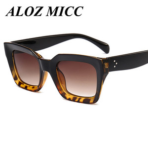 Wholesale ALOZ MICC Brand Hot Fashion Cool Sunglasses Women Men Loves Square Frame High Quality Eyewear New Trendy Female Sun Glasses UV400 A229
