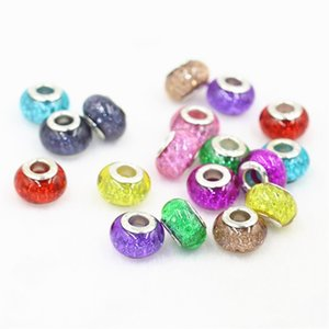 Wholesale Neon Light Shining Charm Bead Silver Plated Fashion Women Jewelry European Style For Pandora Bracelet Necklace