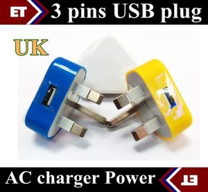 Wholesale DHL UK Wall Charger AC Power Adapter for Android Tablet pc Pins UK Plug USB Charger colors JE5