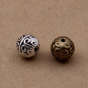Wholesale antique jewlery for sale - Group buy 1000 antique silver bronze metal beads x7 mm good for your jewlery making
