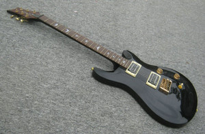 A New Brand Electric RPS Guitar see thru black with tigerflame on body top. can be cusotoimsed!