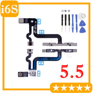 "1pcs For Iphone 6S plus 5.5 "" Inch Volume Button Control Mute Silent Button Switch Flex Cable Ribbon with metal bracke Replacement Part"