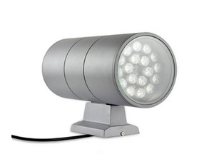 Wholesale 36 Watt LED Wall Mount Lamp UP DOWN Side Light Cylinder Aluminum Columbia Outdoor Waterproof IP65 Spot Lights Lampara Red Green