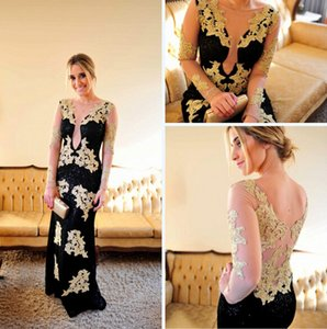 2019 Castle Sexy Elegant Evening Dresses A Line Jewel Backless Capped Long Sleeve Floor Length Lace Applique Art Deco-inspired Dresses