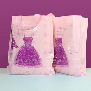 Wholesale 50 cm cm Plastic packaging bags gift bag clothes pick up bag PE shopping bag