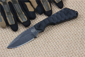 Wholesale 2016 New Arrival High End Strider Knives D2 60HRC Stone Wash Drop Point blade Outdoor Survival straight knives With ABS K Sheath