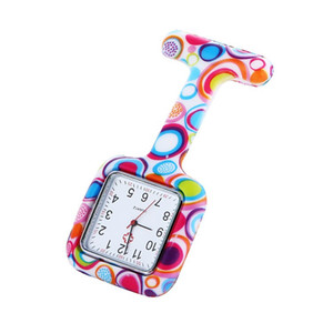 Wholesale TOP Square Dial Fashion Unisex Nurse Doctor Jelly Silicone Rubber camouflage quartz watch Zebra Leopard Prints Pocket candy watches