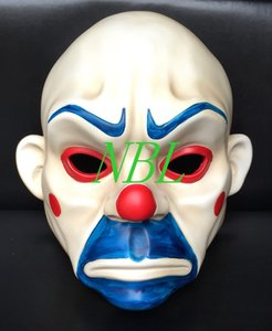 Wholesale Batman Mask Joker Clown Bank Robber Dark Knight Costume Halloween Masquerade Party Fancy Resin Masks