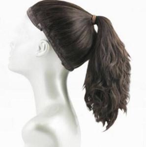 Wonder wig , 100% European Virgin Hair Sports Bandfall , Ponytail wig , Unprocess European hair (kosher Wig ) free shipping