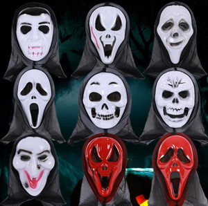 Wholesale screaming mask resale online - horror ghost screaming skeleton masks grimace mask skull masks make up the party death to the monolithic horror halloween mask terrorist mas