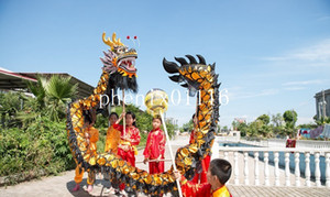 Wholesale dragon arts for sale - Group buy dragon dance black golden size m kid folk performing mascot costume shop decor Arts sports outdoor festival holiday