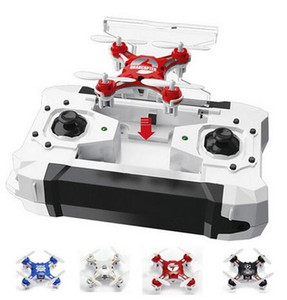 Cheap FQ777-124 Pocket Drone 4CH 6Axis Gyro Quadcopter Drones With Switchable Controller One Key To Return RTF UAV RC Helicopter Mini Drones