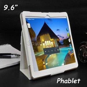 Wholesale Phone Call Tablet Dual SIM Cameras Phablet MTK6580 Quad Core quot IPS Screen G K960 Android4 GB GB Free Leather Case