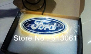 Wholesale New Arrival D EL led car logo decorative lights For Ford Series car badge LED lamp Auto emblem led light