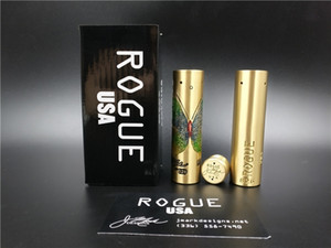 Wholesale Vape Mod New Ecig USA Rogue Butterfly Mech Mod Engraving Butterfly Brass Vaporizer Fit Battery DHL