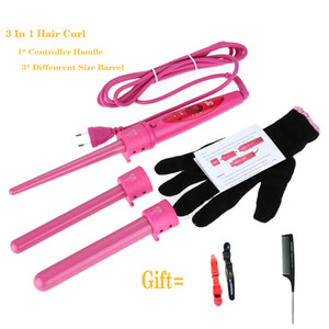 Wholesale set hair curls roller for sale - Group buy 3 In Removable Hair Styler Curling Wand Roller Tourmaline Ceramic Hair Curler Iron Set Interchangeable Monofunctional Hair Curlers
