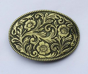 Wholesale Oval Vintage Floral Flower Indian Western Belt Buckle SW BY442 suitable for cm wideth belt