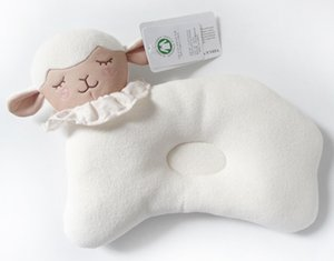 Wholesale infant head shape pillow for sale - Group buy Cute Lamb Style Cotton Baby Pillow Newborn Infant Sleep Prevent Flat Head Support Cartoon Shaping Pillow for Babies
