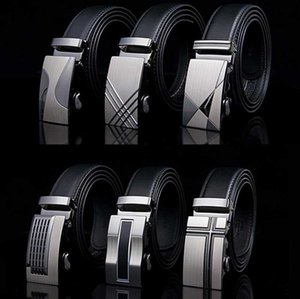 HOt Sale COW genuine Leather Belts for Men High Quality Male Brand Automatic Ratchet Buckle belt 3.5CM Wide 110-130CM Long Belts BZ02