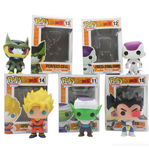 Wholesale Funko POP Mini Dragon Ball Anime Son Goku Piccolo Frieza Shahrukh Vegeta PVC Collection Action Figure Model PVC Kids Toys shipping E1346