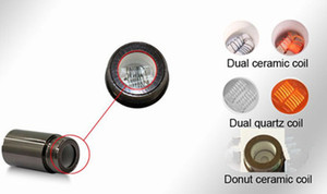 Ceramic Donut coil dual quartz coil dual single ceramic rod coil head replacement for puffco Skillet Wax Atomizer vaporizer wax vape pen