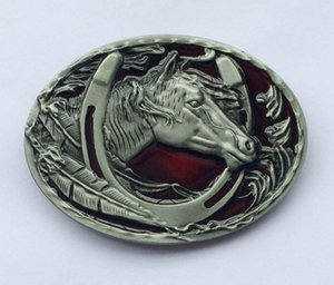 Western Horse Belt Buckle With Pewter Finshing SW-BY411 suitable for 4cm wideth belt with continous stock free shipping