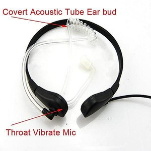 Wholesale Throat Mic Air Tube Headset for YAESU R R VX A Walkie talkie two way CB Ham Radio